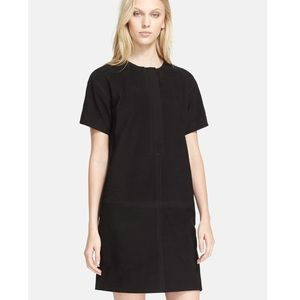New BURBERRY BRIT Black Lillith Suede Shift Dress